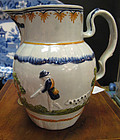 English Prattware Shooting & Hunting Jug, c. 1790