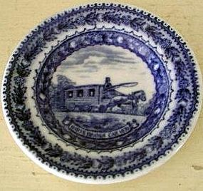 Baltimore & Ohio Railroad Blue & White Butter Pat, 1930