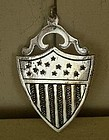 Silverplated Shield Medal with 13 Stars & Stripes, 1876