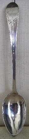 Federal New York City Bright Cut Tablespoon, c 1790