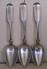 Set of Three Britannia Pewter Spoons, c. 1849