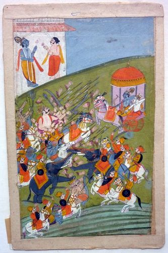 INDIAN MINIATURE PAINTING 19th CENTURY