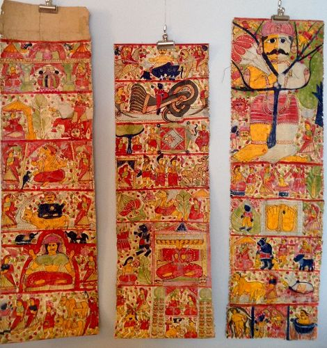 INDIAN SCROLL PAINTING