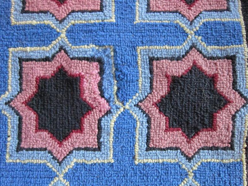 Geometric Hooked Rug