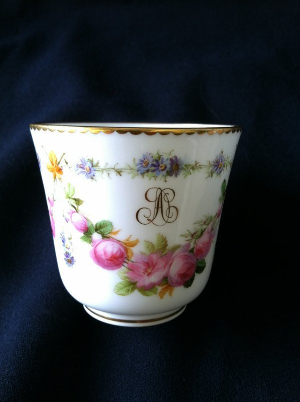 Sevres cup and saucer 1856