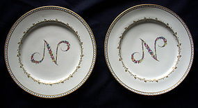 Pair of Doccia Plates