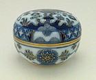 Meissen late 19th century round box