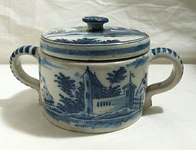 Dutch delft cheese pot c.1780