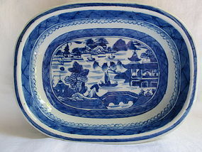 Chinese export Canton open serving dish c.1850