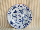 Chinese export blue & white plate c. 1750