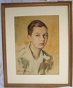 Barnard, Elinor.  Amer. 20th c. portrait young man