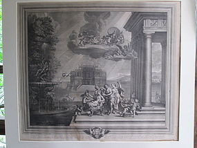 Large Engraving The Toilet of Venus 1672