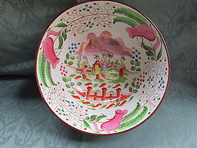 Staffordshire punch bowl with excellent decoration c. 1820