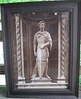 Oversize albumen photograph of St. George by Donatello c.1890
