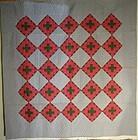 Geometric pieced cotton American quilt circa 1900