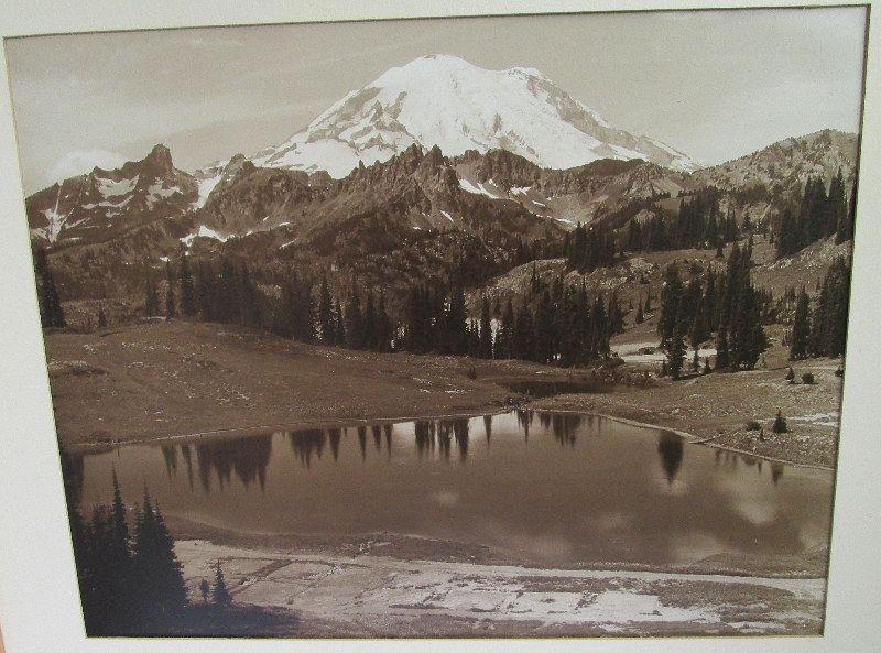 Large photo MT. RAINER – TIPSCO LAKE 20th century.