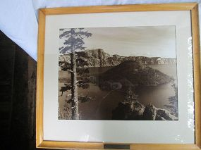 Large Photograph Wizard Island Crater Lake 20th century
