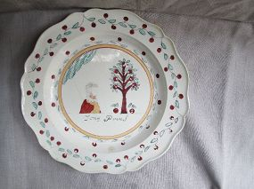 Creamware Dutch decorated plate c.1780.Jong Prins