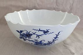 Tournai porcelain large bowl late 18th century.