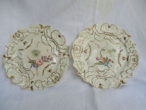 A pair of CJ Mason porcelain plates circa 1825