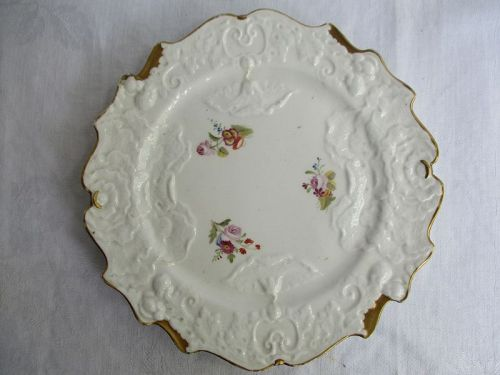 A soft paste porcelain plate, CJ Mason circa 1825