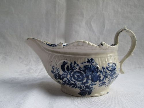 Liverpool Philip Christian porcelain molded and printed sauce c.1770