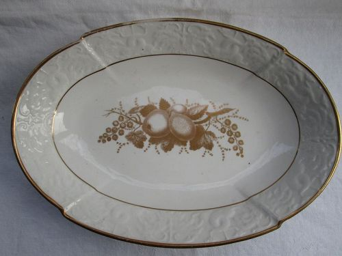 Spode bat printed oval serving dish c. 1814
