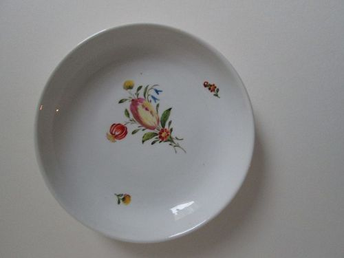 Porcelain hand decorated saucer Nymphenburg c.1780