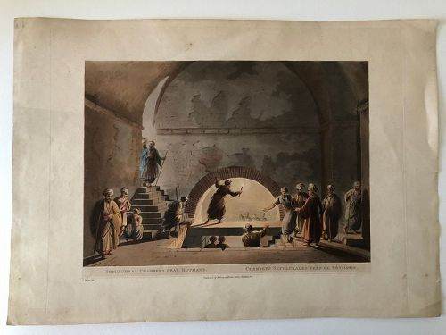 Engraving of Palestine, hand colored R. Bower 1803 London