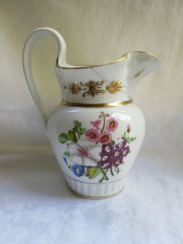 A porcelain pitcher by Tucker Philadelphia c.1830