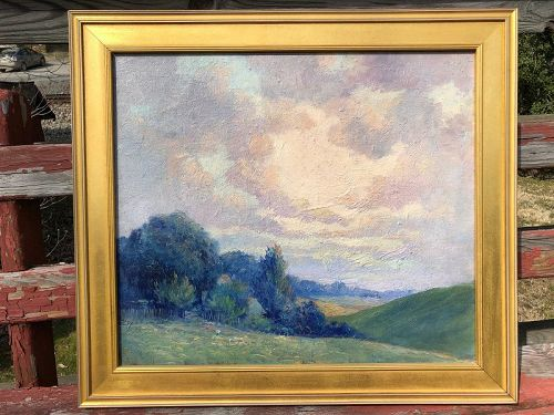 Early 20th century American summer landscape, unsigned.