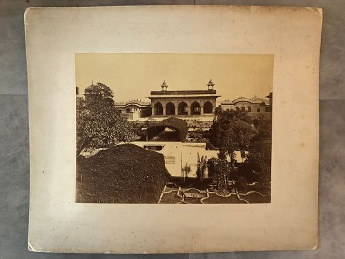 Albumen photo of the Kas Mahal and Anguri Bagh by Sache  1870s