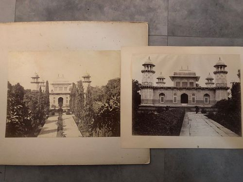 2 albumen photos of the Tomb of Itmad-ud-Dualah c. 1880