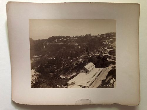 Albumen photo of Darjeeling India c.1880