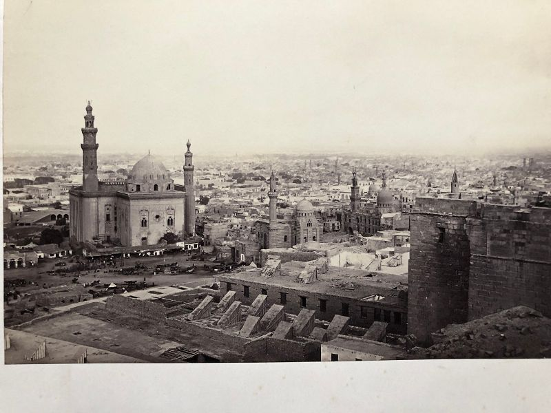 Albumen photo circa 1880 with Cairo location printed on mount