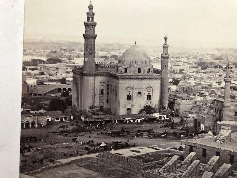 Albumen photo circa 1880 with Cairo location printed on mount
