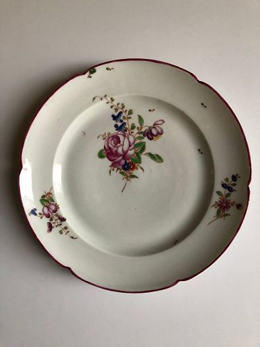 Ludwigsburg porcelain plate decorated with flowers, circa 1770