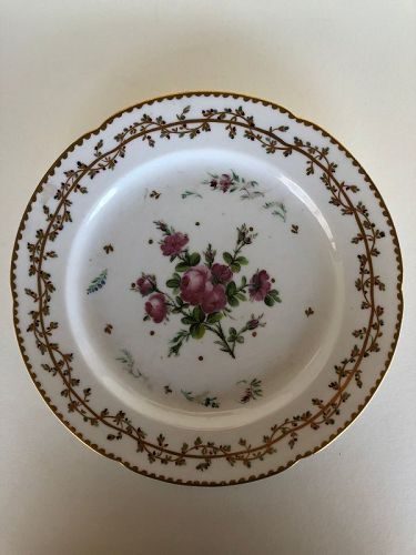 Locre dinner plate late 18th century Old Paris