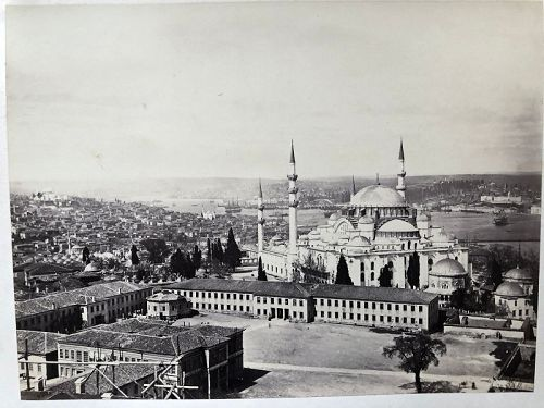 Albumen Photo of Sultan Sulieman Mosque Istanbul c.1880