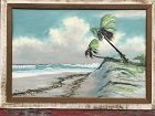 Alfred Hair, Florida Highwayman. Painting of a beach