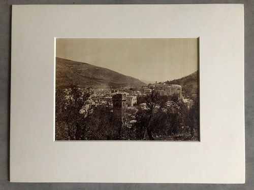 Albumen photo of Nablus Palestine circa 1880