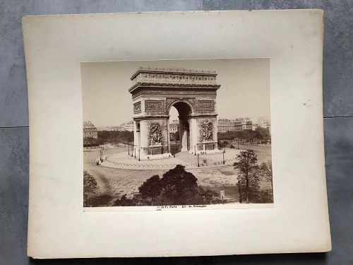Albumen photo Arc de Triomphe circa 1880
