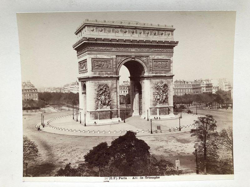 Albumen photo Arc de Triomphe circa 1880