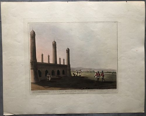 Aquatint view Ouscottah India, London 1804