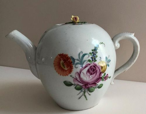 A porcelain Volkstedt Germany teapot circa 1790