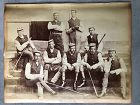 2 albumen photos of Polo and Cricket teams Sandhurst 1877
