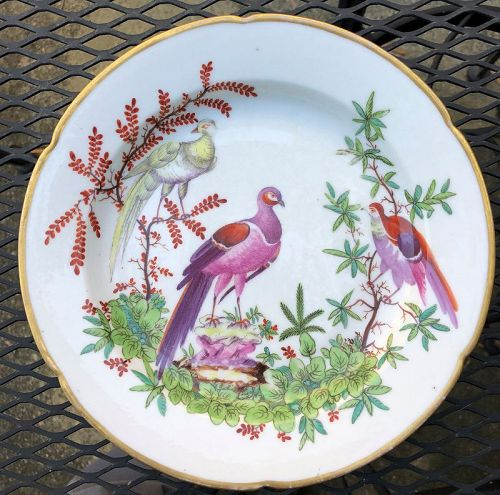 London decorated French porcelain plate circa 1820