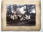 Albumen photo country cricket and archery, 1881