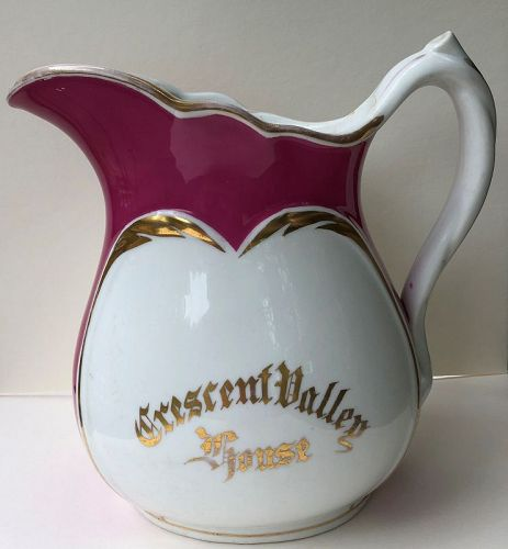 American decorated ice-water pitcher, c.1870
