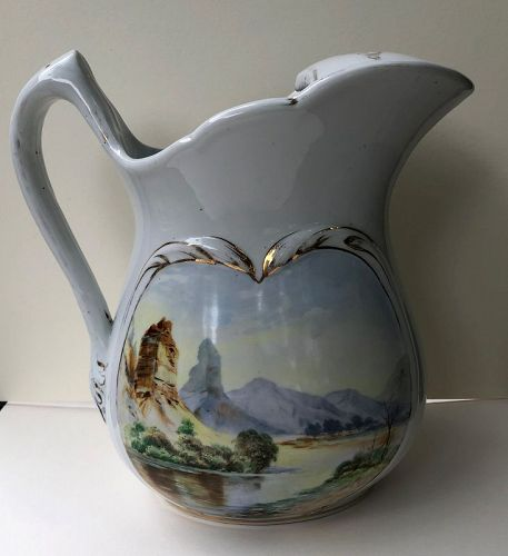 American decorated porcelain ice-water pitcher c.1870